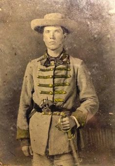 """Unidentified Confederate cavalryman. """