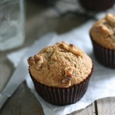 Whole Wheat Brown Butter Banana Muffins--healthy, moist, filling and delicious!  #foodgawker