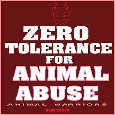 ZERO TOLERANCE FOR ANIMAL ABUSE -  #HEROIKX