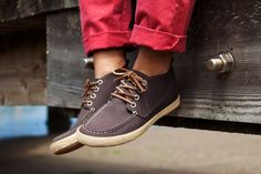 """""""In loving remembrance of the hippies of yesteryear, choose between Arabica, Tin Grey, or Slate Navy and pick up your own pair of the Bayside Moc"""""""