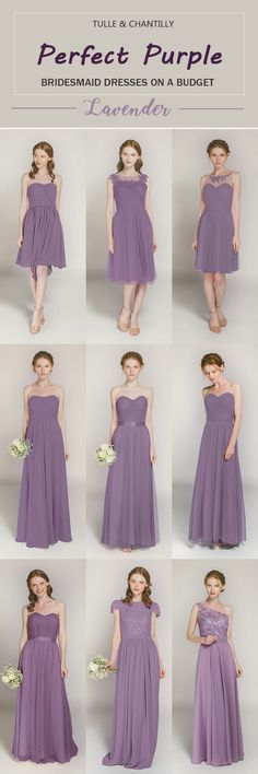 affordable lavender bridesmaid dresses from tulle and chantilly