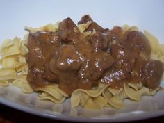 Nana's Beef Tips with Noodles