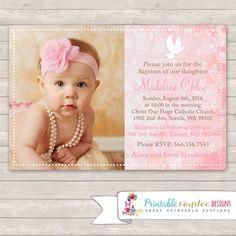 girl christening invitations                              …