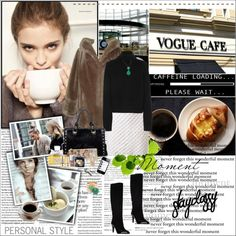 """Over a cup of coffee...."" by vassiliki-g ❤ liked on Polyvore"