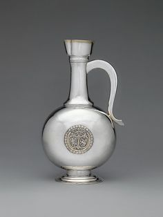 """Johannes Szakáll (active 1748–72). Wine jug, 1779. Hungarian, Kolozsvár. The Metropolitan Museum of Art, New York. Gift of The Salgo Trust for Education, New York, in memory of Nicolas M. Salgo, 2010 (2010.110.61a, b) 