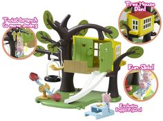 Peppa Pig Tree House Playset. TREEHOUSE WITH SLIDE, SWING ETC.