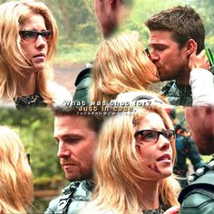 """#Arrow 5x23 """"Lian Yu"""" - """"What was that for? Just in case."""" - #OliverQueen #FelicitySmoak"""