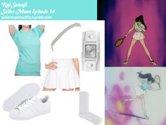Like Sailor Moon Outfits on Facebook! American Apparel thick knit jersey skirt in White Forever 21 infinity knot headband in Cream/Silver American Apparel unisex fine jersey short sleeve t-shirt in Light Aqua American Apparel solid calf-high sock in White Adidas Originals Superstar 2 sneaker in White/White Vestal Electra white Lizard and Silver analog watch