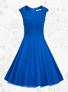 Buy 1950s Vintage Square Neck Solid Dress(Get it within 3 Days) Vintage Dresses under US$ 19.99 only in SimpleDress.
