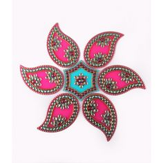 Decorative Pink & Blue Rangoli Design