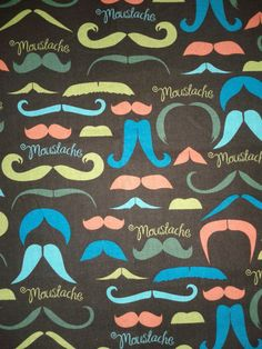 Moustache novelty fabric  All novelty fabric 20 by OhGoodyCrafts, $9.59