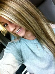 Brown and blonde highlights