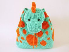 Dino Backpack crochet by Chabepatterns