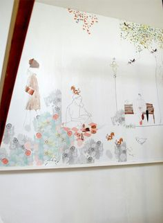 """Papier peint """"Le Parc"""" S.Cordey, pour The Collection Editions."""