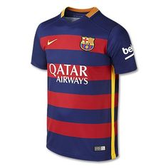 74073e51b Your young fan can show off their love for the beautiful game this season  in the Nike® Youth FC Barcelona 2015 Home Jersey.