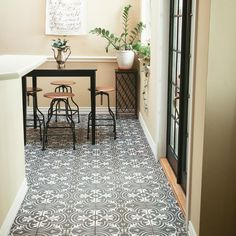 Merola Tile Twenties Classic Encaustic Ceramic Floor and Wall Tile - in. Tile - The Home Depot House Tiles, Wall And Floor Tiles, Wall Tiles, Bathroom Flooring, Kitchen Flooring, Spanish Design, Artistic Tile, Tile Projects, Tile Installation