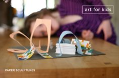 Paper sculptures art project, a fun new twist on at home art time
