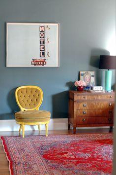 My Little Yellow Slipper Chair - Little Green Notebook