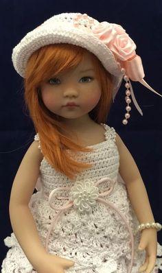 "OOAK Hand Crochet Rose Blossom Outfit For Dianna Effner 13"" Little Darling #DiannaEffner"