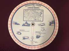 This promotional wheel chart uses the 1930 census data to provide facts about the then-48 states & D.C.