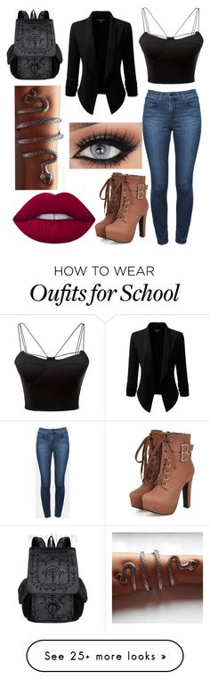 """""""Shadowhunter"""" by nightgirl109 on Polyvore featuring WithChic, Theory, Doublju and Lime Crime"""