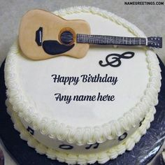 happy birthday guitar cake picture for boy,edit image online and write name,boy name with birthday cake image,sweet brother name on cake Happy Birthday Brother Cake, Happy Birthday Guitar, Happy Birthday Cake Writing, Guitar Birthday Cakes, Happy Birthday Wishes For Her, Birthday Cake Write Name, Happy Birthday Cake Photo, Birthday Wishes Cake, Happy Birthday Celebration
