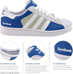Where these Facebook shoes to show your love for the social network on #smday.
