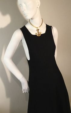 So Chic! Daring Vintage London Boutique Black Pinafore Maxi Dress 10 in Clothing, Shoes, Accessories, Vintage, Women's Vintage Clothing Vintage 70s, Vintage Ladies, Black Pinafore, Vintage Outfits, London, Boutique, Chic, Link, Clothing
