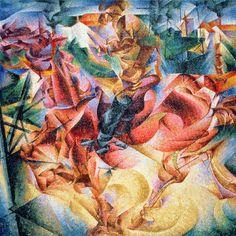 Umberto Boccioni Elasticity, 1916 64 x 64 Kunst...