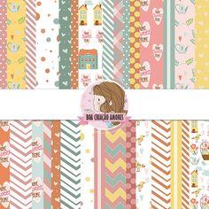 Loja: http://www.elo7.com.br/papel-digital-home-sweet-home-i/dp/59CCB3   #scrapbook #home #sweet #papel #cute #printable