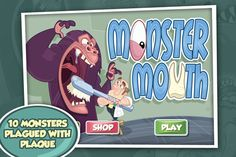 As a dentist for monsters, you'll journey into the cavernous mouths of ENORMOUS monsters in order to solve their dental problems before their mouths can slam shut!