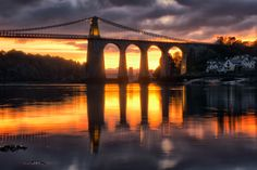 https://flic.kr/p/S1x432 | 044388---October-glow | This was taken at Menai bridge on Anglesey, North Wales. Slack water provided a reflective surface for the powerful October skies  You can find all my work at www.facebook.com/AngleseyandNorthwales