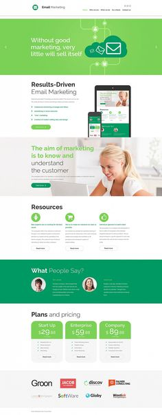 Email Services Responsive Moto CMS 3 Template #55857