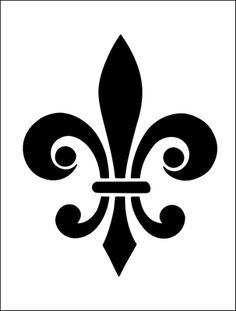 Fleur de Lys stencil from The Stencil Library BUDGET STENCILS range. Buy stencils online. Stencil code MS83.