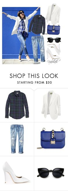 BLUE. by nabilach on Polyvore featuring Madewell, J.TOMSON, Gap, Giuseppe Zanotti and Valentino