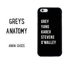 Greys Anatomy Phone Case iPhone 4s 5 5s 5c SE 6s 6 by ArayaCases