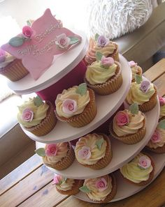 Birthday cupcakes for a 75th birthday. by kylie lambert (Le Cupcake), via Flickr