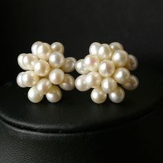 Pearl Cluster Bridal Earrings Pearl Wedding Earrings by luxedeluxe, $38.00. For wedding and possible bridesmaids