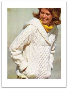 Vintage-Retro-70s-Knitted-Hooded-SWEATER-Jumper-Pattern