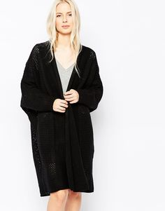 Shae+Oona+Long+Line+Ribbed+Cardigan
