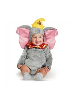 Dumbo Costume For Baby Kids Infant Child. Halloween Costume Ideas For Baby. Elephant Costume Ideas For Kids. Halloween Costumes For Girls, Disney Costumes, Disney Halloween, Spirit Halloween, Baby Dumbo, Baby Kostüm, Baby Boys, Baby Costumes For Boys, Girl Costumes