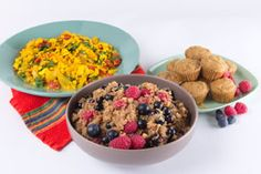 Check out this AMAZING and DELISH bfast menu from Christina Pirello of Christina Cooks!  She is one of my most FAV chefs!  She is vegan and believes in the power of food.  Menu: Apple and Berry-Scented Quinoa, The Best Scrambled Tofu, and Muffins.  YUM! <3