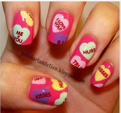 valentine's day nails. Cast A Love Spell On Your Nails With 22 Cute Nail Art Ideas