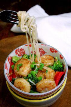 Ginger Shrimp with Rice Noodles