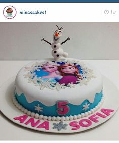 Disneys Frozen Birthday cake