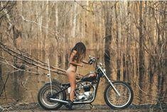 Biker Chick, Biker Girl, Pinup Photoshoot, Chicks On Bikes, Old School Vans, Dirt Bike Girl, Motorbike Girl, Motorcycle Tips, Triumph Motorcycles