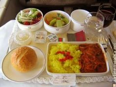 Tokyo To Seoul Steamed saffron rice with eggplant, onion, green pepper and carrots. French bread. Vegetable salad. Fresh fruit.