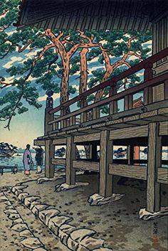 "Japanese Art Print ""Matsushima Godaido Pagoda (The Godaido Shrine at Matsushima)"" by Kasamatsu Shiro. Shin Hanga and Art Reproductions http://www.amazon.com/dp/B012IA9RWG/ref=cm_sw_r_pi_dp_omXvwb1X4Z8DS"
