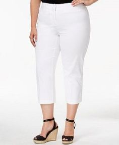 2e966690cf7 Capri Pants White Charter Club Plus Size 20w Straight Leg - B2g1free