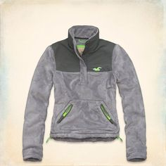 NWT Hollister SoCal Oceanside Fleece Jacket Women Size Large Gray #Hollister #FleeceJacket